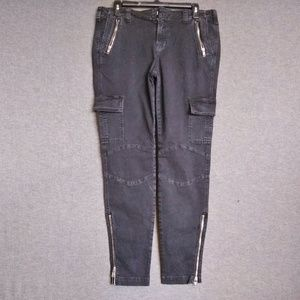 J Brand Moto Cargo Ankle Zippers Pants